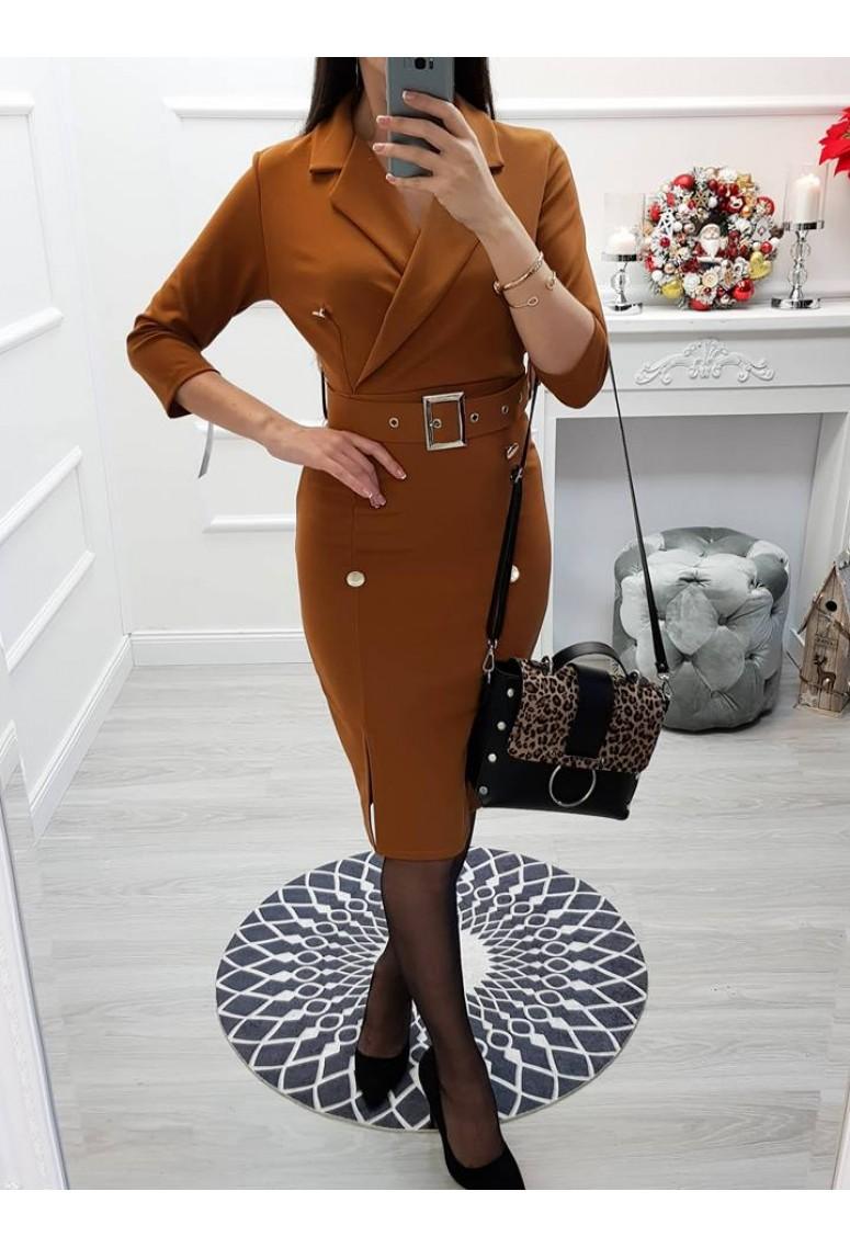 Elegantné šaty Tracy - škoricové cc4a91cb307