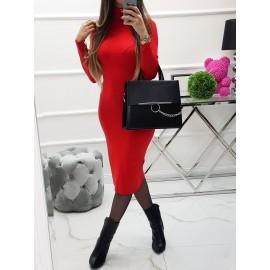 Rolákové šaty Diana - červené