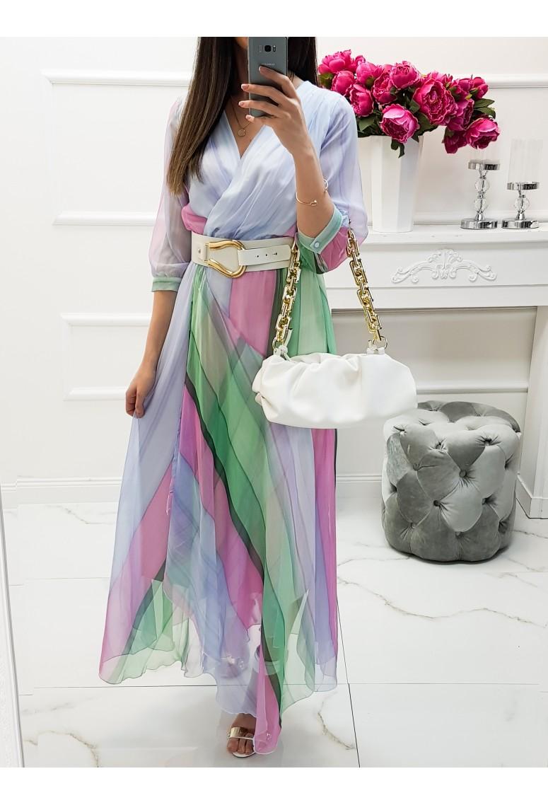 Luxusné ľahučké šaty Alora s opaskom