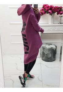 Asymetrická mikina MC Beatle - fialovoružová