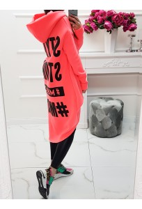 Asymetrická mikina MC Beatle - neon lososová