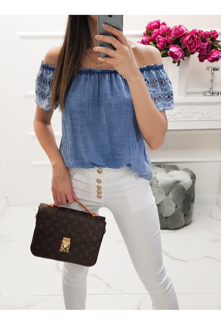 Top Catrin - jeans blue