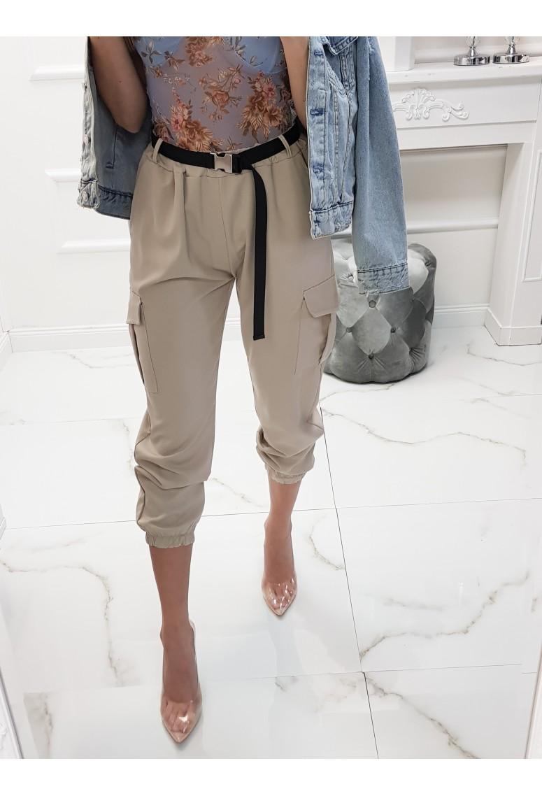 Balónové nohavice Safari s opaskom - sand beige