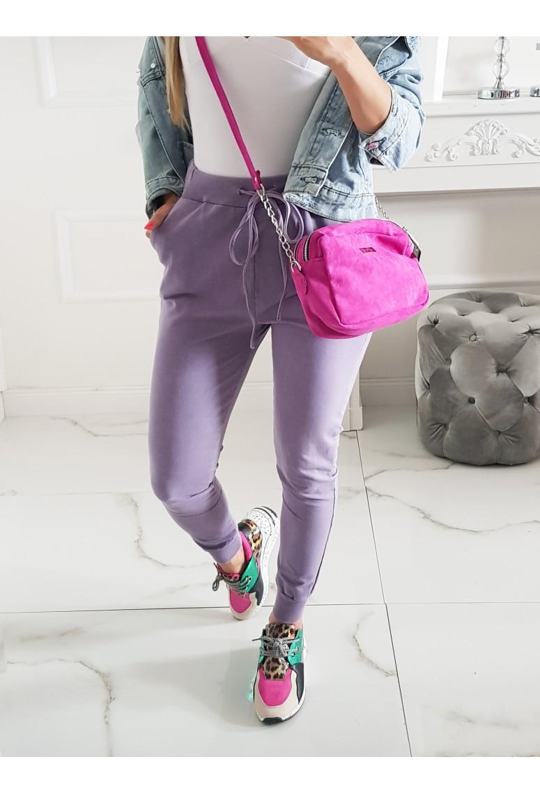 Bavlnené tepláky Monde - purple