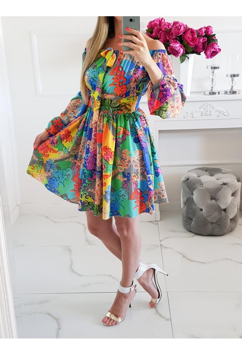 Luxusné šaty La Bella Color / krátke