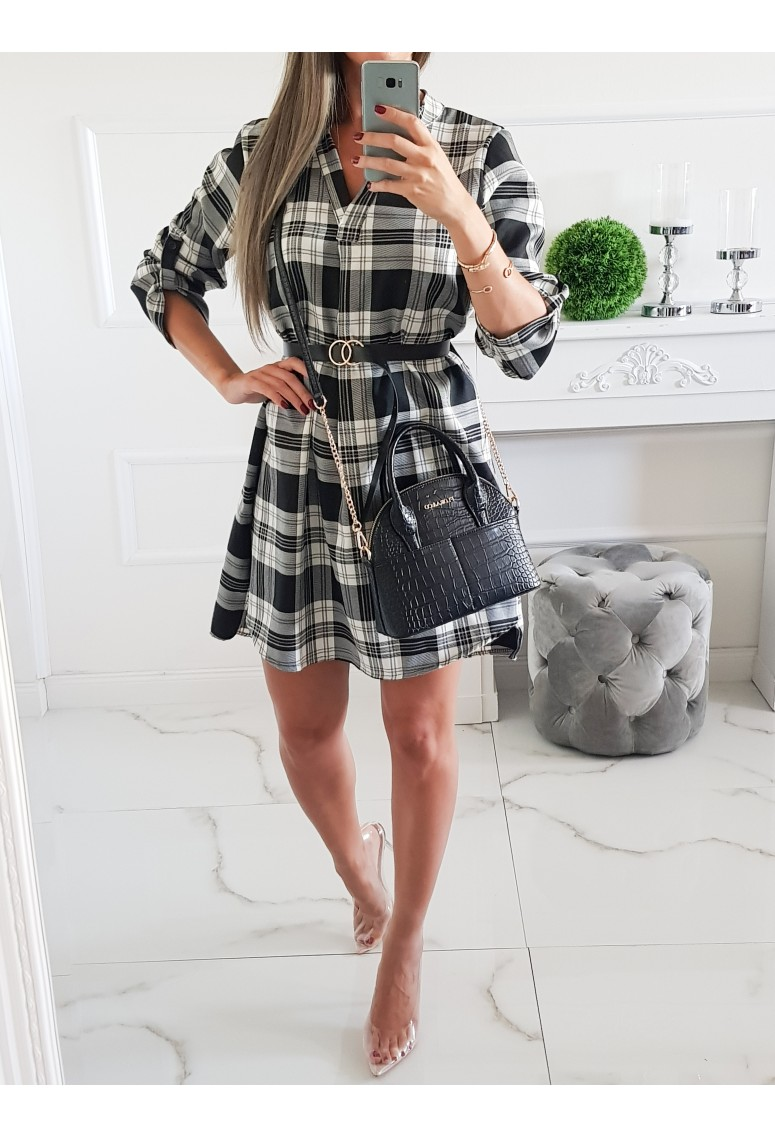 Šaty Italy Cube  - čierno/biele