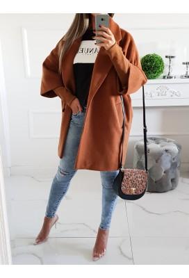 Štýlový kabát Zara - škoricový/alpaca