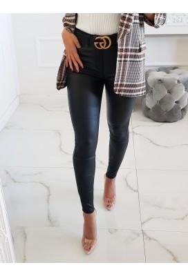 Koženkové nohavice Berclay - čierne