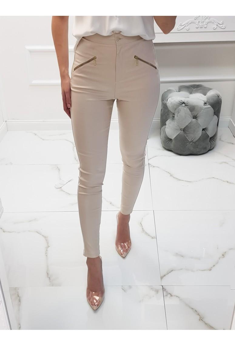 Elastické  nohavice Solo - beige creme