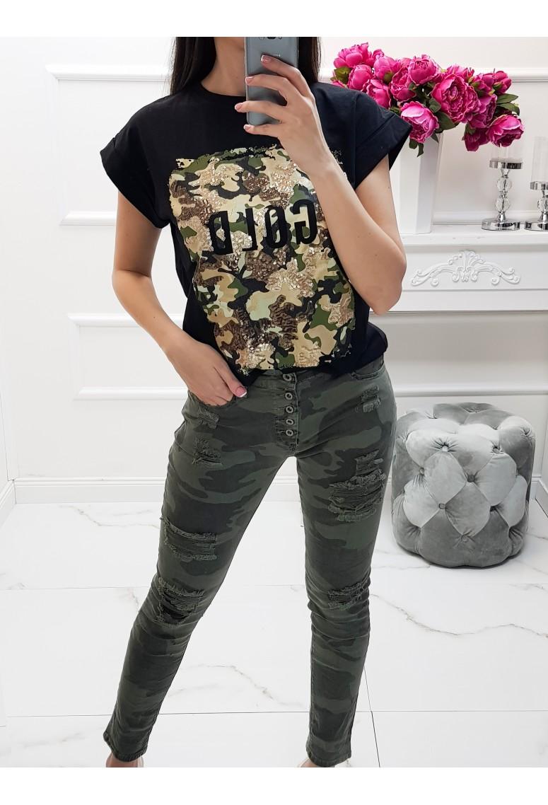 Bavlnené tričko ICON - čierne