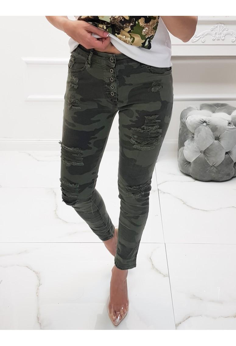 Elastické skinny jeans Army