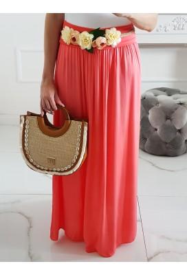 Maxi sukňa Hot Summer - lososová
