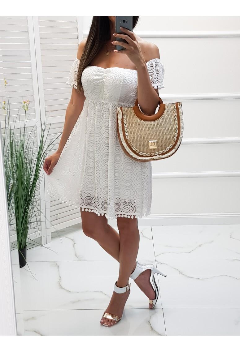 Čipkované šaty Noah - biele