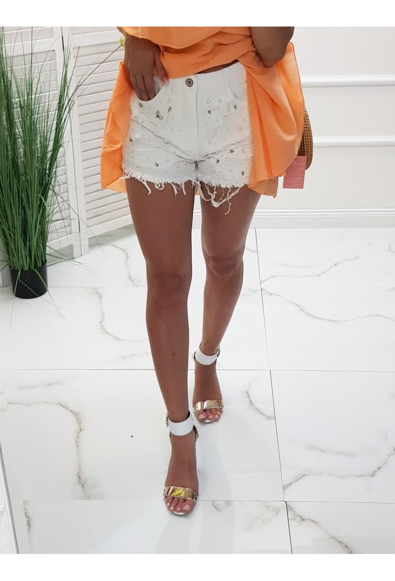 Rifľové kraťasy Whitte Fashion