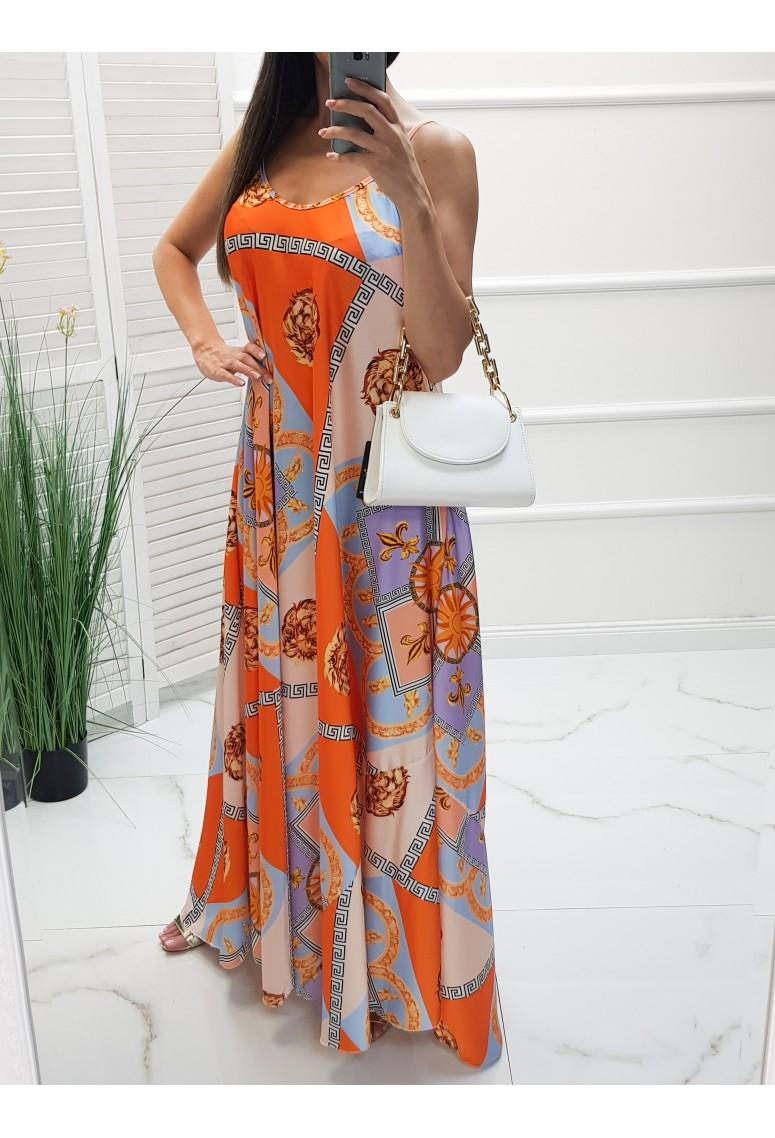 Maxi šaty Donatella - orange