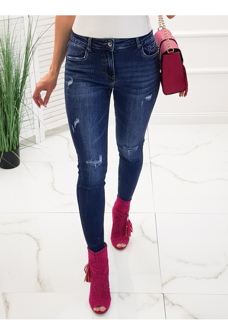 Skinny jeans Jacques - tmavomodré