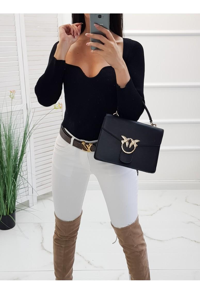 Úpletový svetrík Oxana - čierny