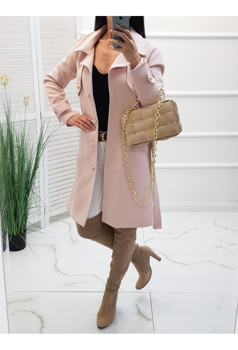 Prechodný kabátik Amour - powder pink