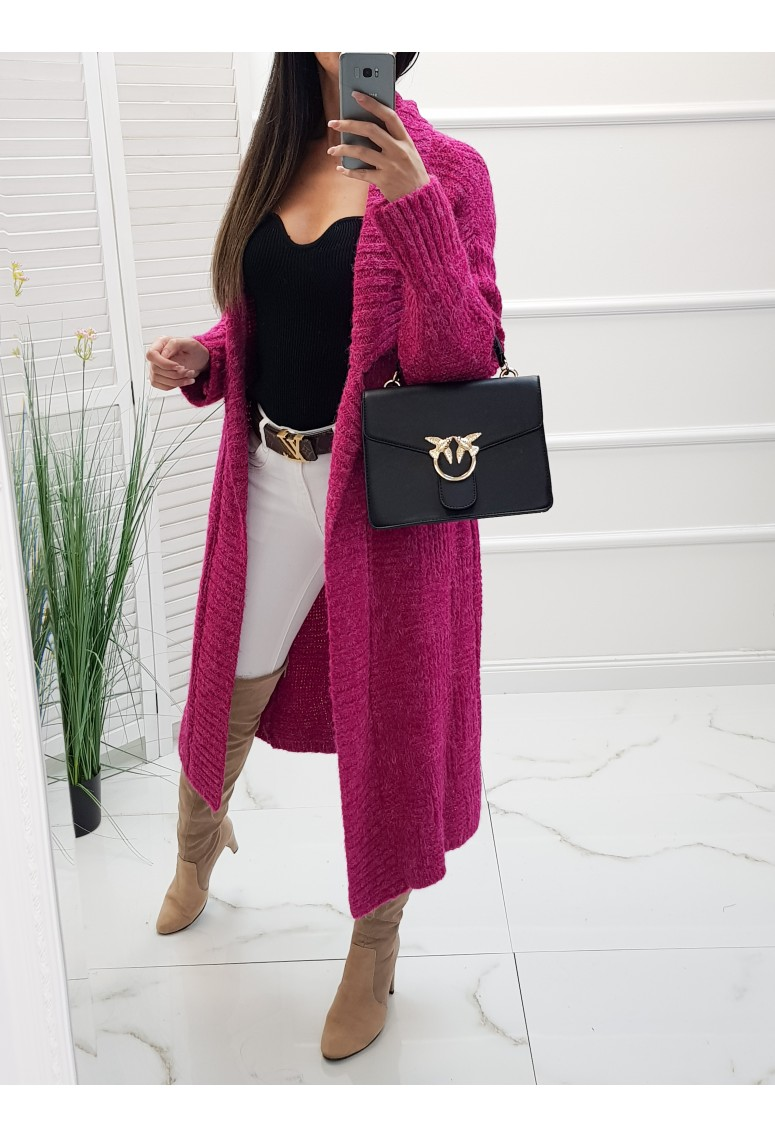 Pletený sveter Luxe One - tmavoružový