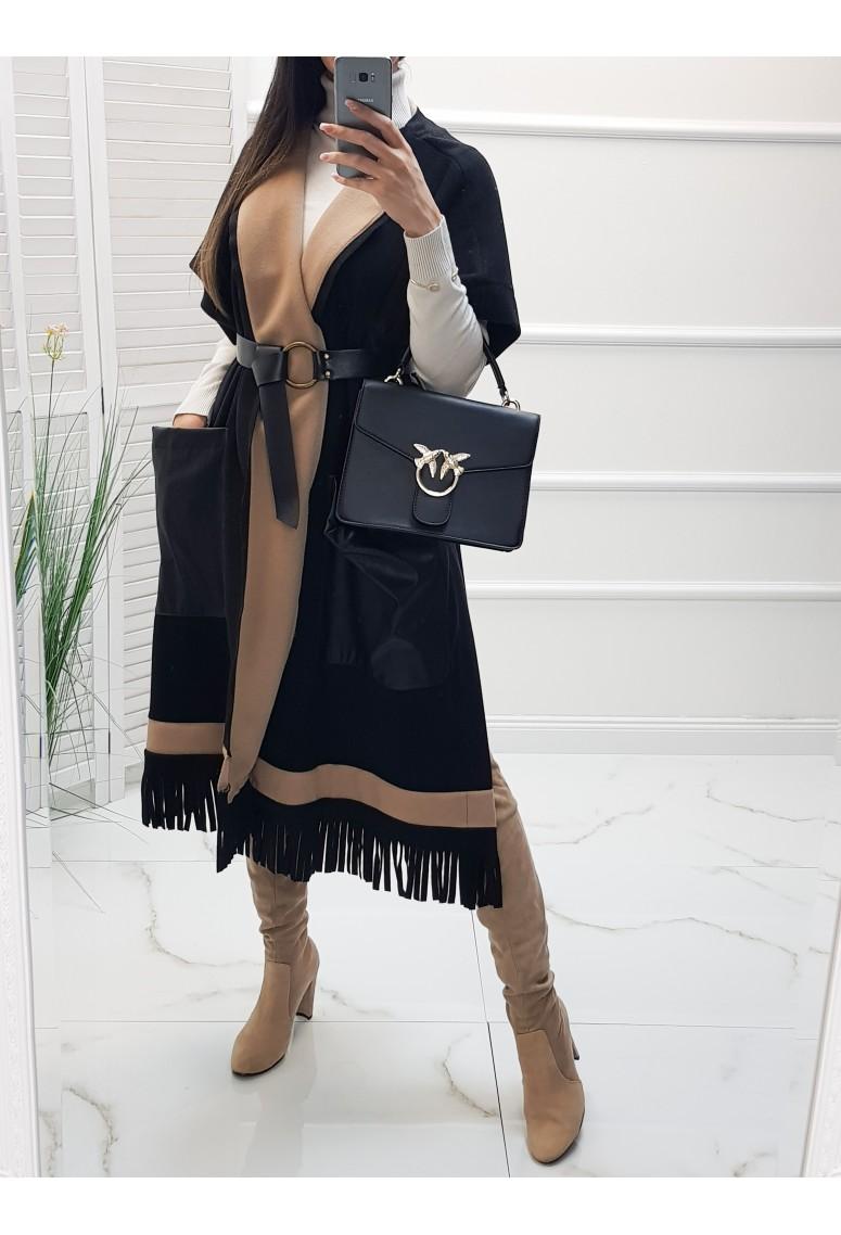 Kabátová vesta STYLE black/brown