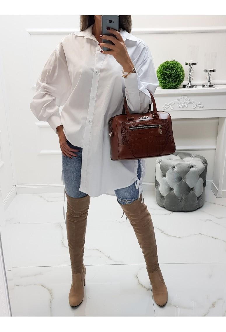Oversize košeľa Claritta - biela