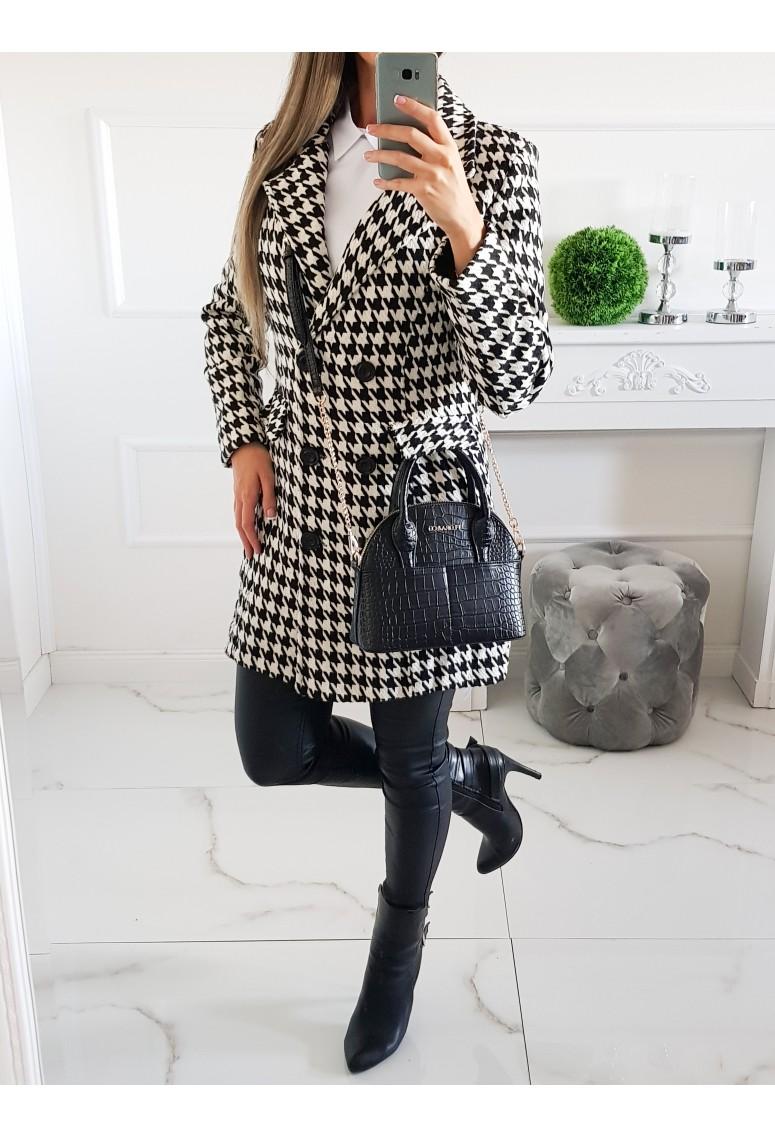 Prechodný kabát Fashion - pepitkový