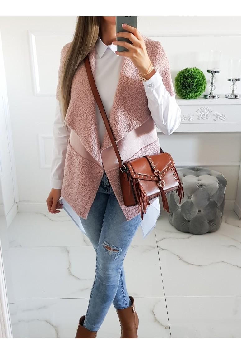 Asymetrická vesta Fashion - ružová