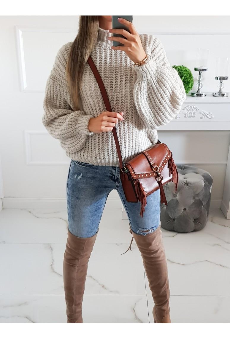 Pletený svetrík Meggie - sand beige