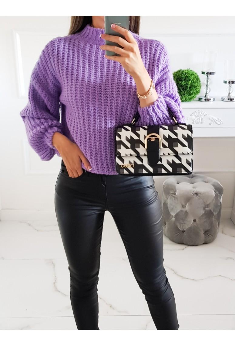 Pletený svetrík Meggie - fialový