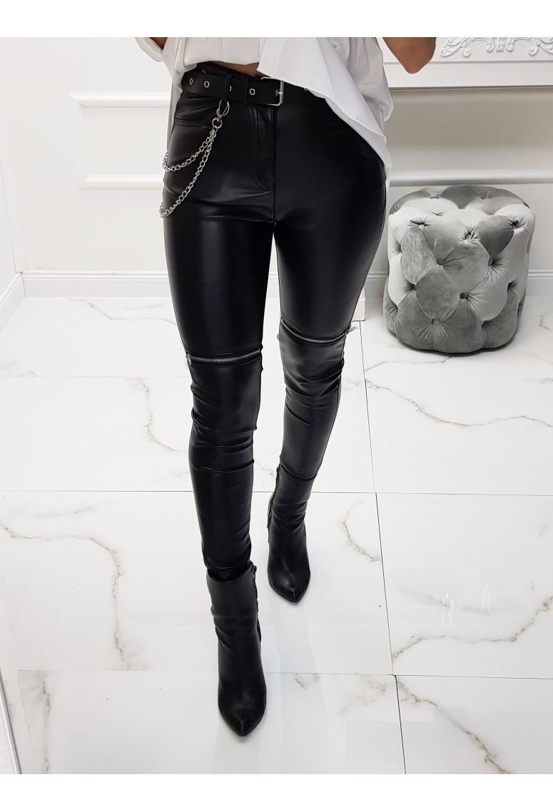 Koženkové nohavice Clark