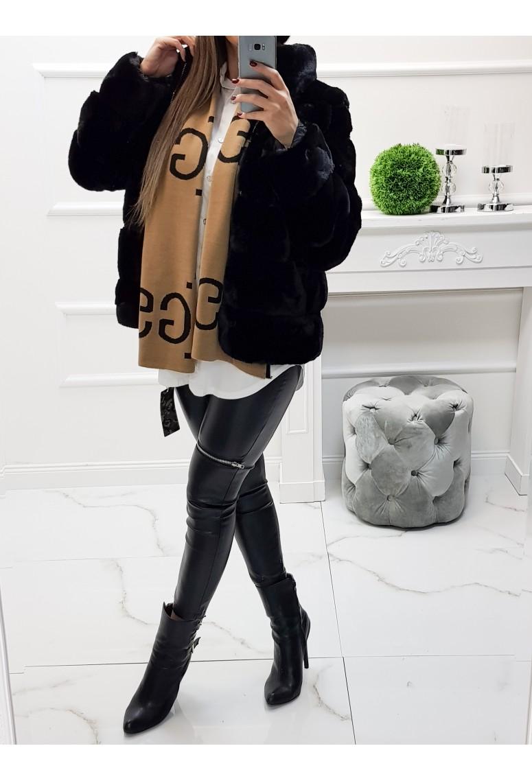 Kožušinová bunda Milani - čierna
