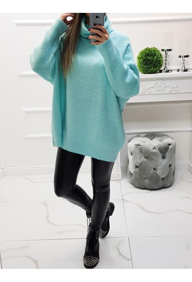 Oversize sveter Becky - tyrkysový