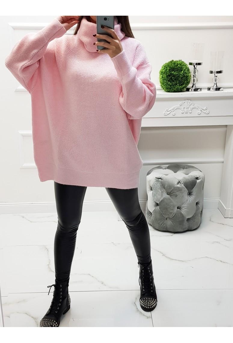 Oversize sveter Becky - pink