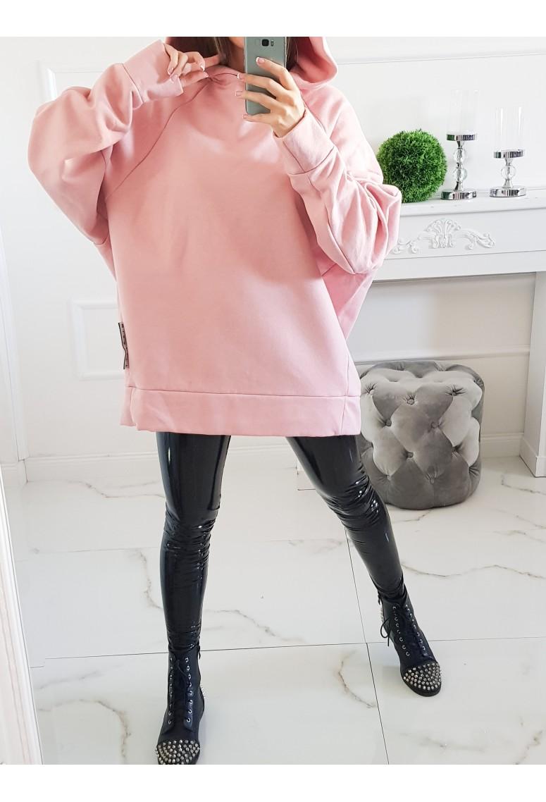 Oversize mikina City - ružová