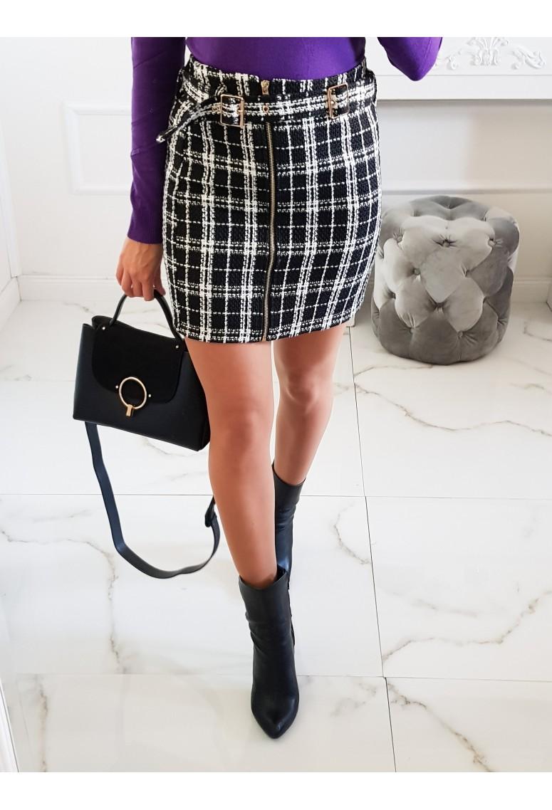 Hrubá sukňa Collection - čierno/biela