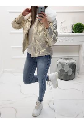 Zimná metalická bunda Missi - perleťová gold
