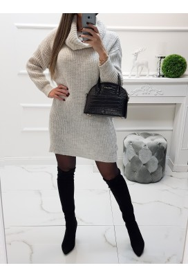 Pletené šaty Taria - beige