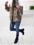 Zimná metalická bunda Missi - gold/bronze