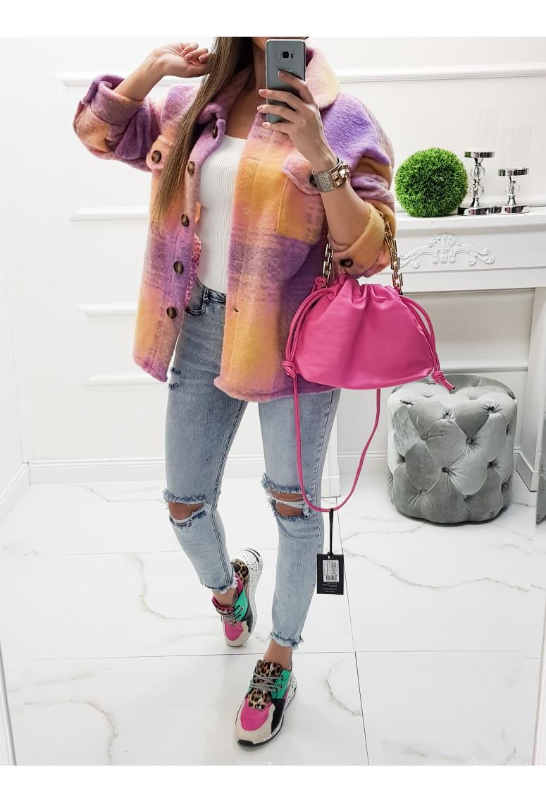 Hrubá vrchná košeľa Bosco - orange/pink