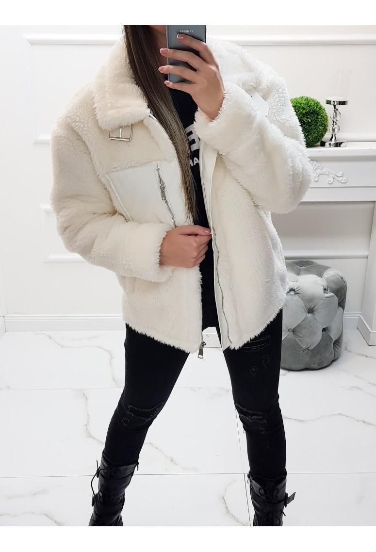 Ovečková bundička Fashion - Creme