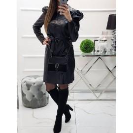Koženkové šaty Miou