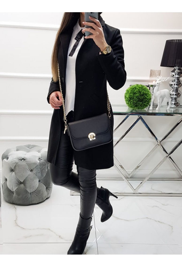 Kabát Elegance - čierny