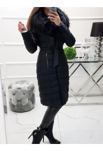 Zimný koženkový kabátik Laura