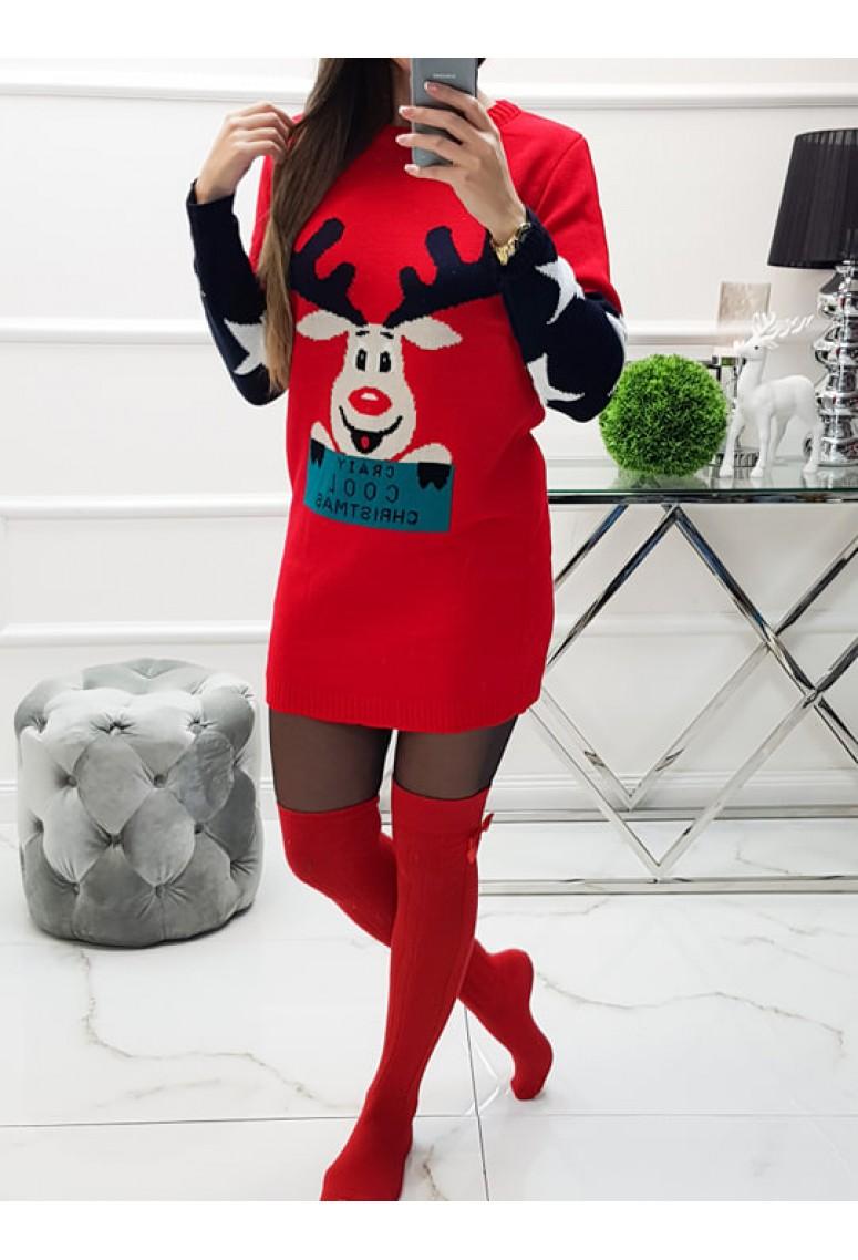 Svetríkové šaty Raindeer