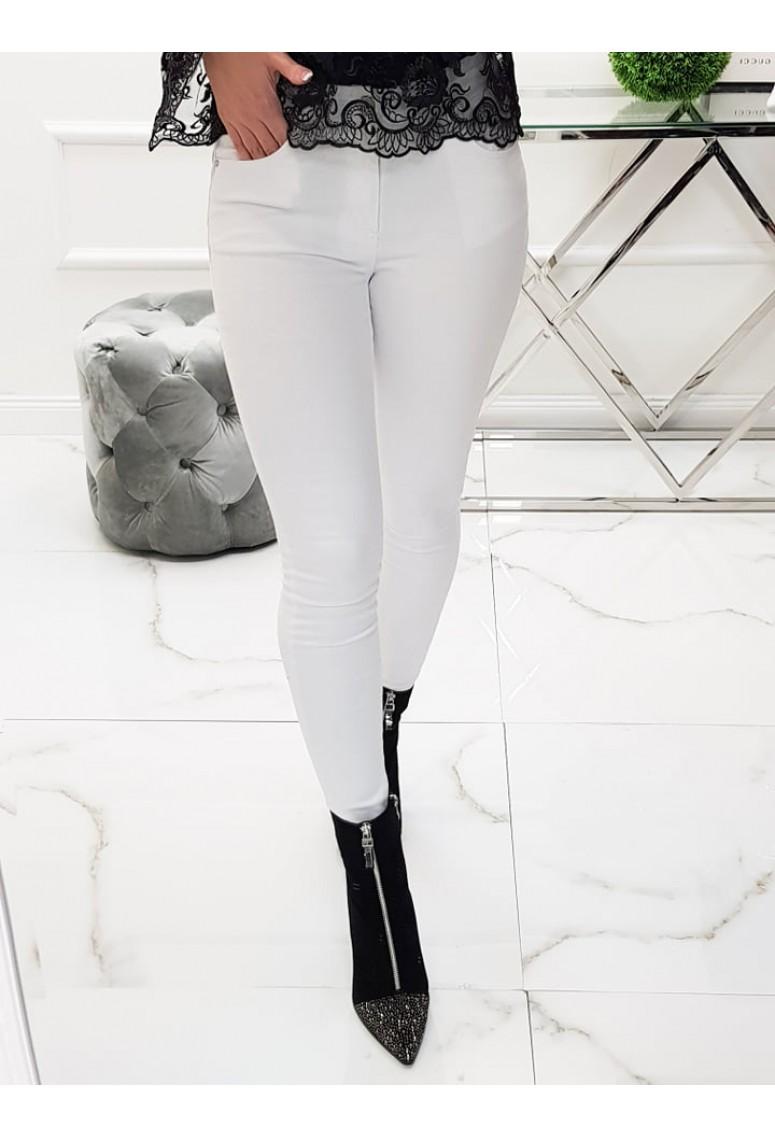 Biele skinny jeans Moris