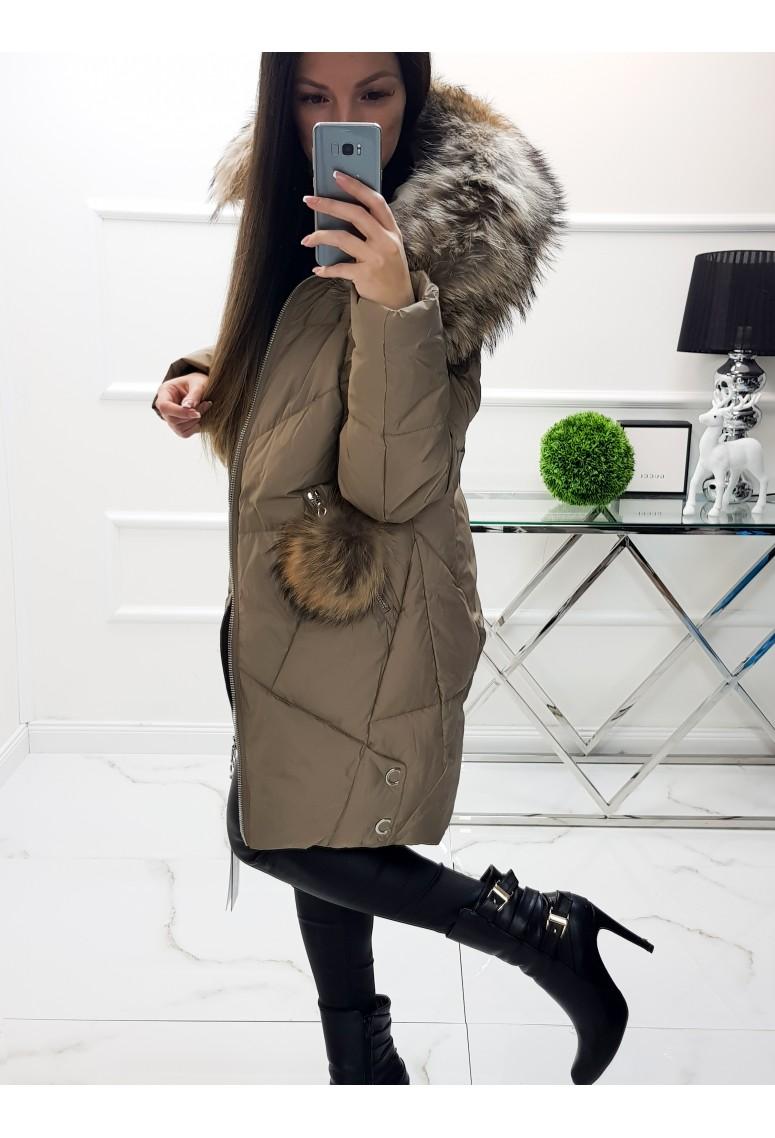 Zimná bunda Luxus Bruce s pravou kožušinou