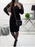 Úpletové šaty Sally - čierne