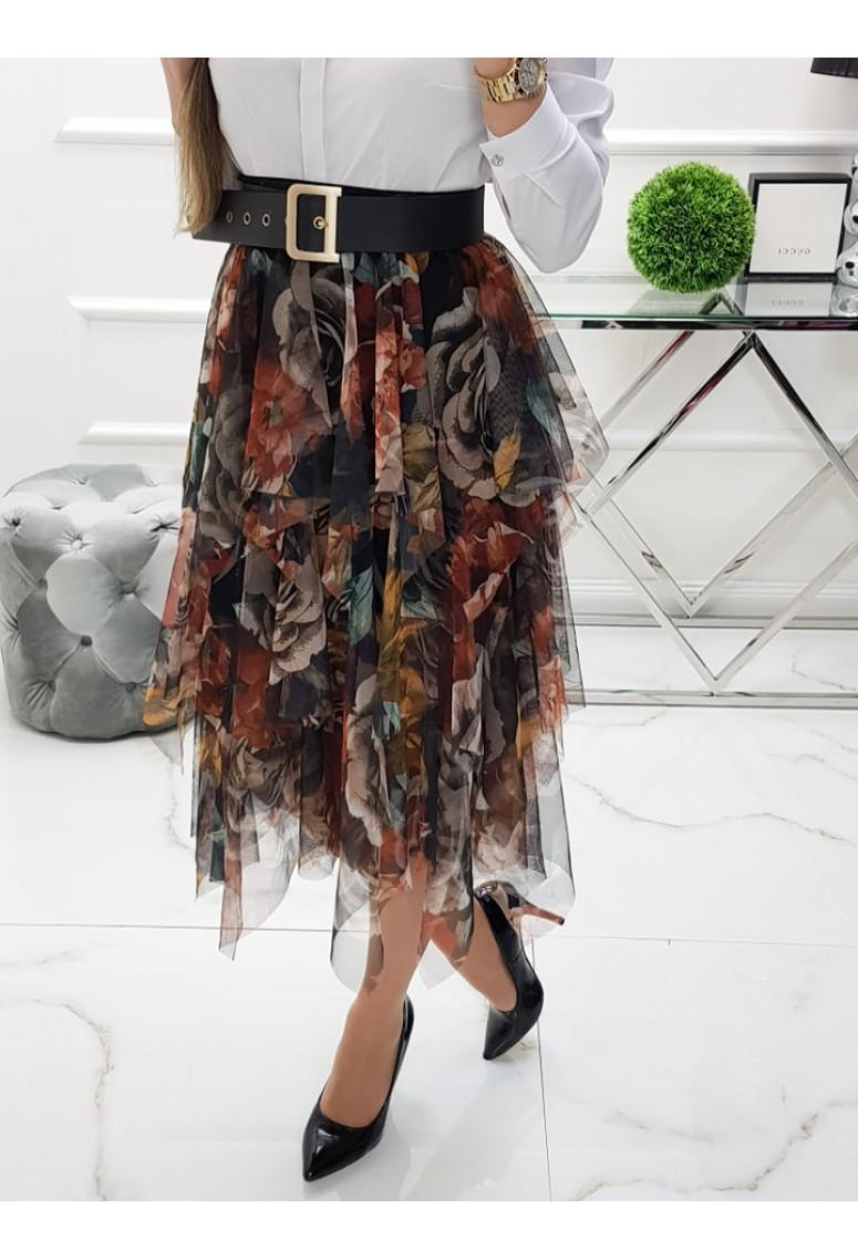 Tylová sukňa Flowers 2.