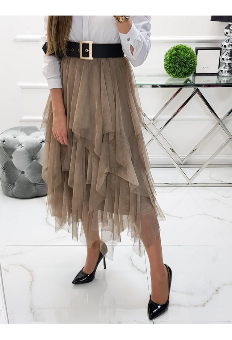 Tylová sukňa Alessa - piesková