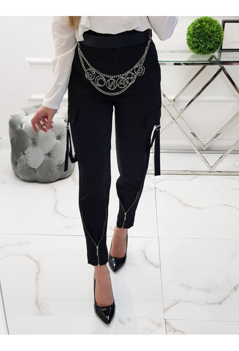 Nohavice Zippers - čierne